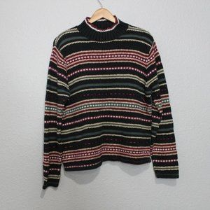 Vintage Christopher & Banks Ribbon Striped Sweater